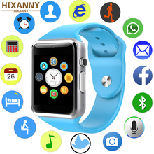 Купить с кэшбэком HIXANNY Smartwatch With Passometer Camera SIM Card Call Smart Watch For Xiaomi Huawei HTC Android Phone Better Than GT08 DZ09
