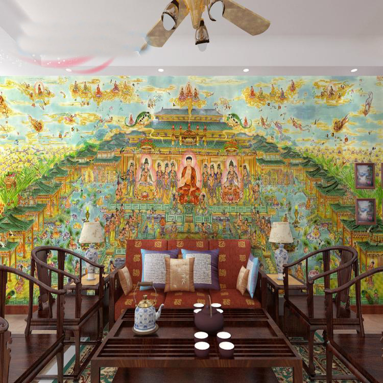 Bacaz 3d Religion Murals Wallpaper Temple Buddha 3d Wall Murals for Wall paper 3D Wall Photo Mural for Background 3d Wall Mural custom 3d photo wallpaper mural nordic cartoon animals forests 3d background murals wall paper for chirdlen s room wall paper