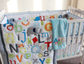 New 2015 good quality  7pcs Appliqued  Baby Cot Crib Bedding set for girl Comforter / Quilt Fitted Sheet Bumpers Skirt