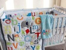 7 шт. аппликация младенцы футляр детская кроватка постельные принадлежности комплект для девочка одеяло / одеяло простыня с резинками бамперы юбка(China (Mainland))