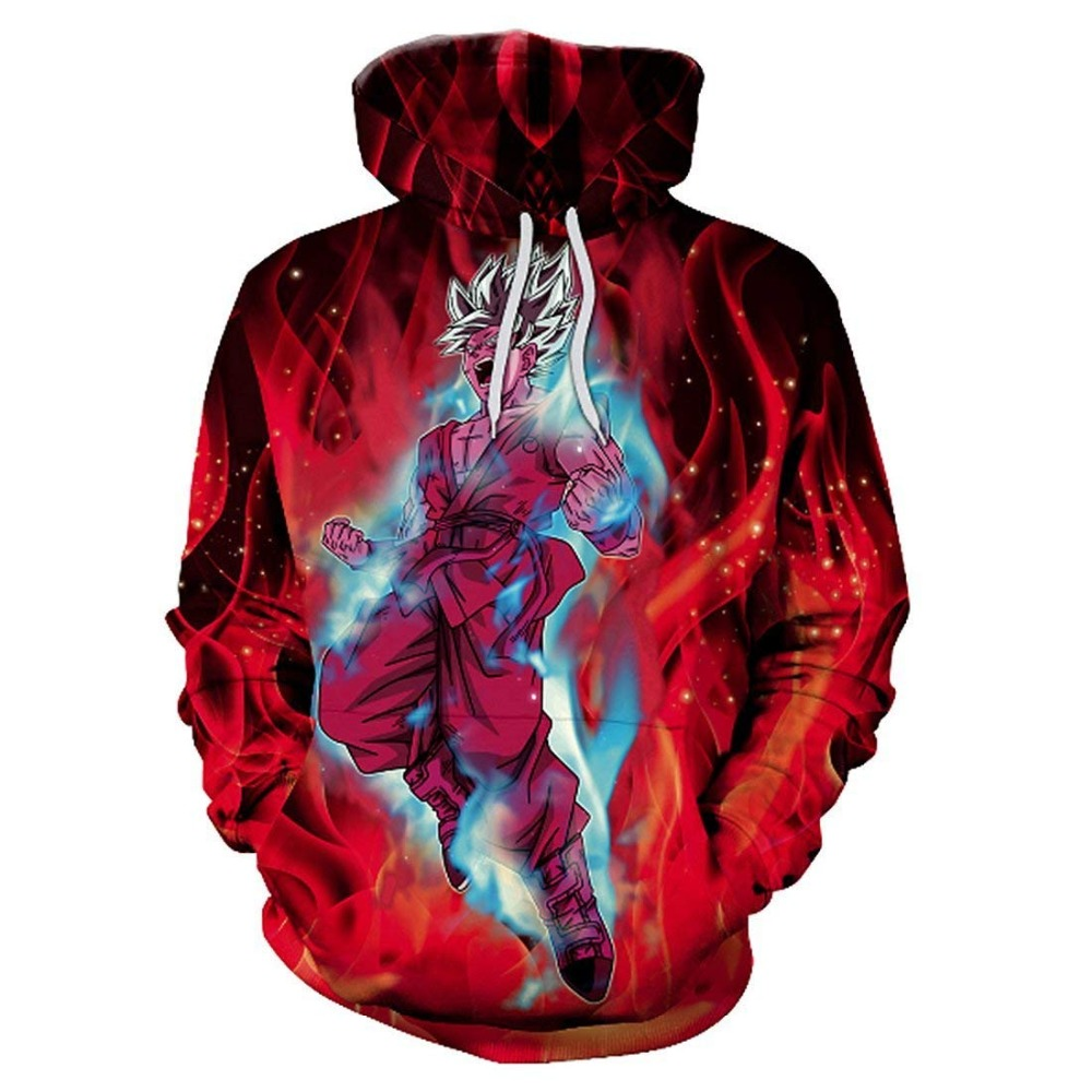 Goku 3D Sweatshirts Men Hoodies Dragon Ball Hoody Hooded Tracksuits 3D Printing Pullover Anime Coat Autumn Winter Drop Ship 2019