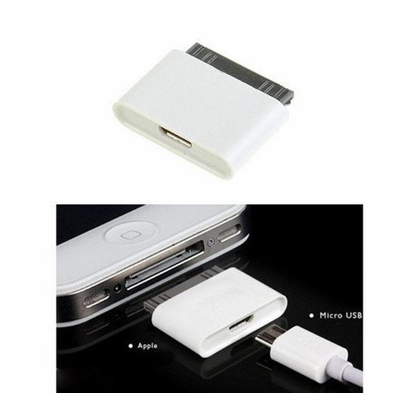 Portefeuille MicroUSB doca 30pin Feminino Masculino cabo Adaptador de Conector para o iphone 3GS 3G 4 4S iPad 1 2 iPod