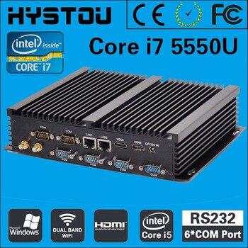 Intel i7 Fanless industial Mini PC Windows 7 10 Core i7 5500U 2*Intel NUC 6 COM Computer i5 4200u  Wifi BT 2*HDMI 4k i3 HTPC