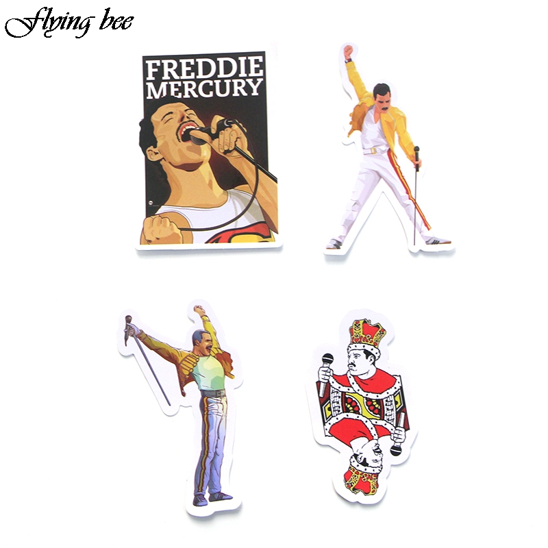 Image 5 - Flyingbee 13 Pcs Freddie Mercury Sticker Graffiti Rock Stickers for Kid DIY Laptop Luggage Phone Car Waterproof Sticker X0001-in Stickers from Consumer Electronics