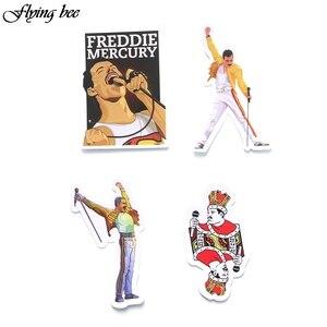 Image 5 - Flyingbee, 13 uds, famosa pegatina de cantante de rock, calcomanías de rock Graffiti para chico DIY, equipaje para ordenador portátil, pegatina impermeable para teléfono o coche X0001
