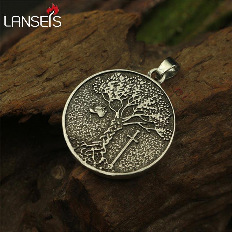 viking Tree Necklace Raven Necklace Pendant Black Bird Jewelry Wide Varieties Necklaces & Pendants Pendant Necklaces Trustful Lanseis 1pcs Tree Of Life Pendant