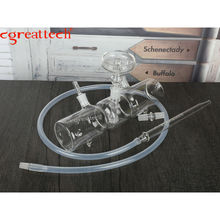 Smoking shisha chicha cgreattech Mp5-X glass hookah with hose