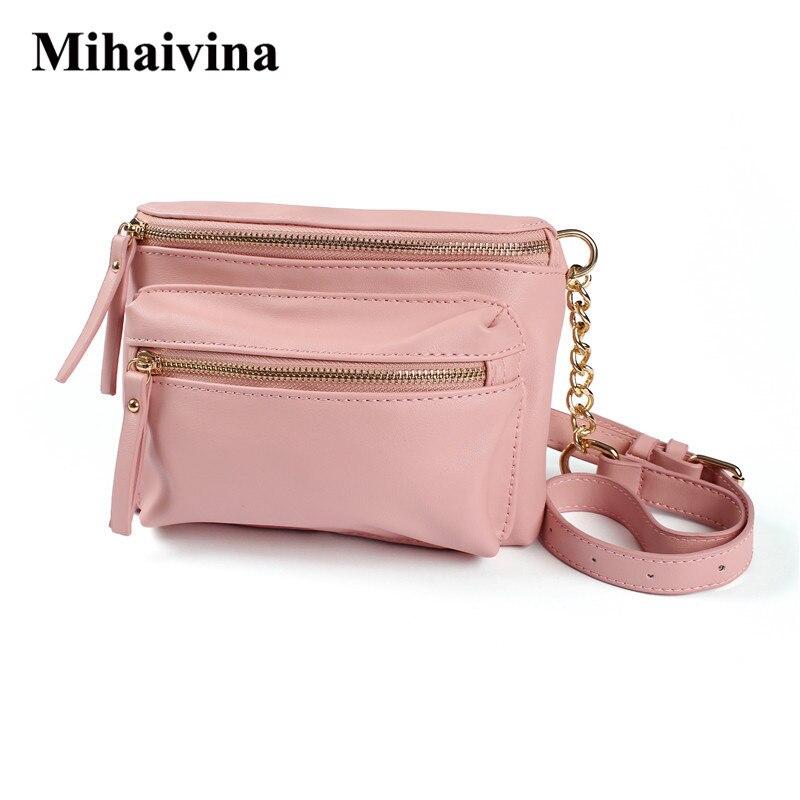Mihaivina Luxury Handbags Women Bags Designer Waist Bag Fanny Packs Belt Bags Women's Famous Brand Chest Handbag Shoulder Bag