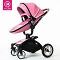 Aulon narra couro two-way amortecedores carrinho de bebê 2 em 1 carrinho de bebê do pram do bebê DA UE