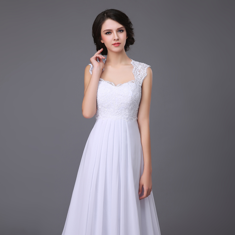 Sweetheart Lace A-line Chiffon Wedding Dress
