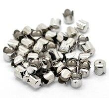 цена на Wholesales 200Pcs Beads Caps Fit Chain Tassel Jewelry Making Silver Tone Findings DIY Component 8mm