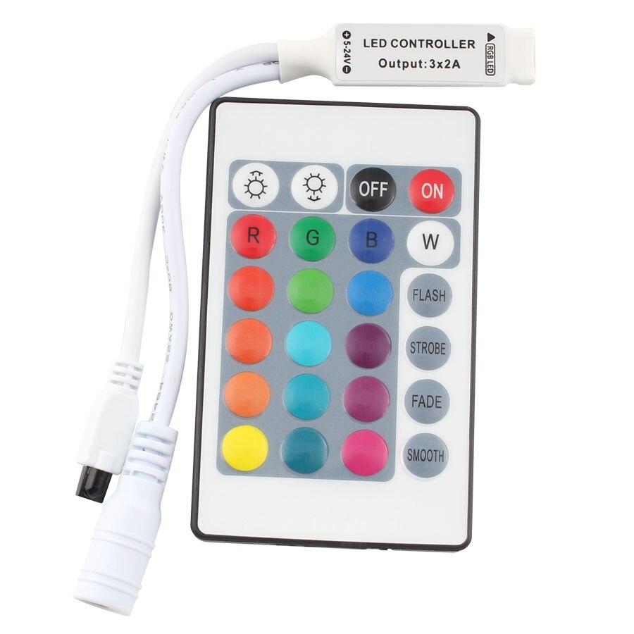 DC 12V Mini 24key Remote Controller IR RGB RGBW Led Strip DC 12 V 24 Key Controller For SMD 3528 5050 5630 3014 LED Strip Lights
