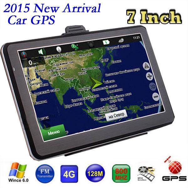 Para A Rússia Ucrânia Belarus Cazaquistão 7 polegada FM DDR128MB 800*480 do gps do carro de navegação GPS MTK MS2531 800 MHZ atualizar Os Mapas Navitel