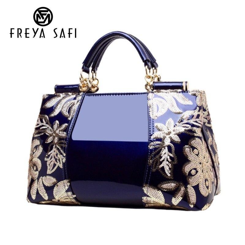 Женская роскошная дизайнерская сумка с вышивкой высокого качества из лакированной кожи с винтажными цветами женская сумка через плечо