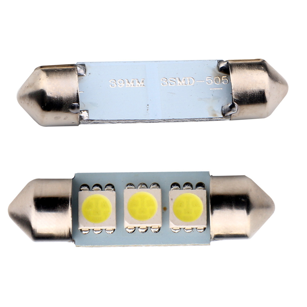 LaLeyenda 12V Festoon 36mm 39mm LED C10W C5W 3SMD 6SMD <font><b>16</b></font> <font><b>SMD</b></font> 5050 Bulb Car Licence Plate Light Auto Housing Interior Dome Lamps image