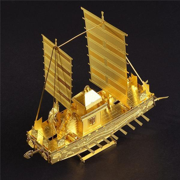 Piececool Panokseon P021-G P021-S Model Building Kits DIY Puzzle 3D Laser Cut Boats Jigsaws Toys For Kids Child Gift
