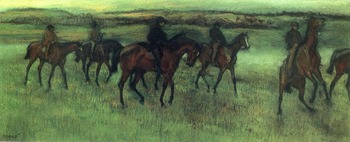 High quality Oil painting Canvas Reproductions The Riders (1875-1876) By Edgar Degas hand painted