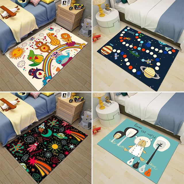 Cartoon Animal Carpet Kids Rug And Carpet For Bedroom Area Rug
