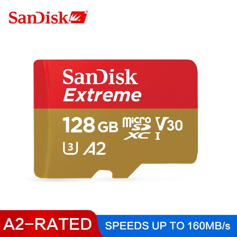 SanDisk Micro SD Karte A2 Lesen Geschwindigkeit 160 mt/s Speicher Karte Extreme Micro SD UHS-I TF Karte U3 V30 64GB 128GB Unterstützung 4K