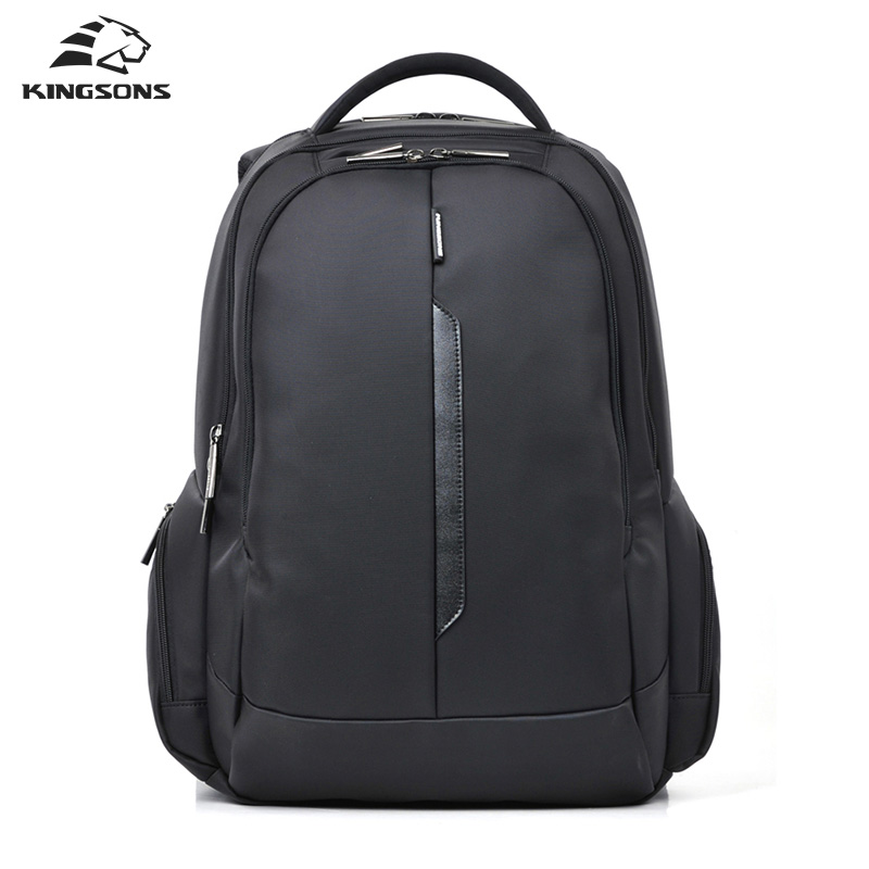 Kingsons 15 Inch Black Laptop Backpacks School Bagpack High Quality Designer Men's Bags Shoulder Bag