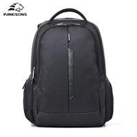 Kingsons 15 inch Black Laptop Backpacks School Bagpack High Quality Designer Men's Bags Shoulder Bag