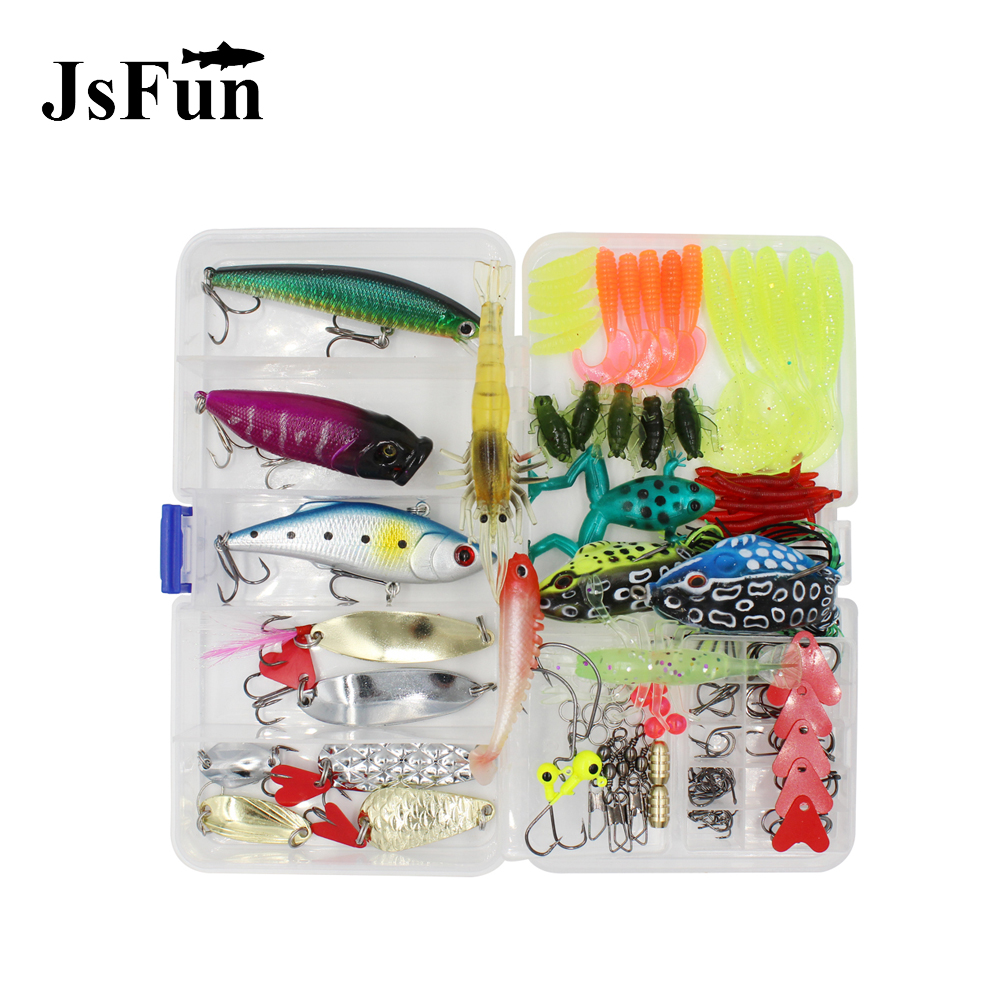 147PCS Lures Kit Set Spinner Crankbait Minnow Popper Hard Spoon Crank Baits Fishing Hooks Pesca Wobblers Fishing Tackle Box L126 3pcs lot fishing lures mixed set minnow crankbaits topwater popper hook lure spinner baits crankbait bass wobbler tackle hook