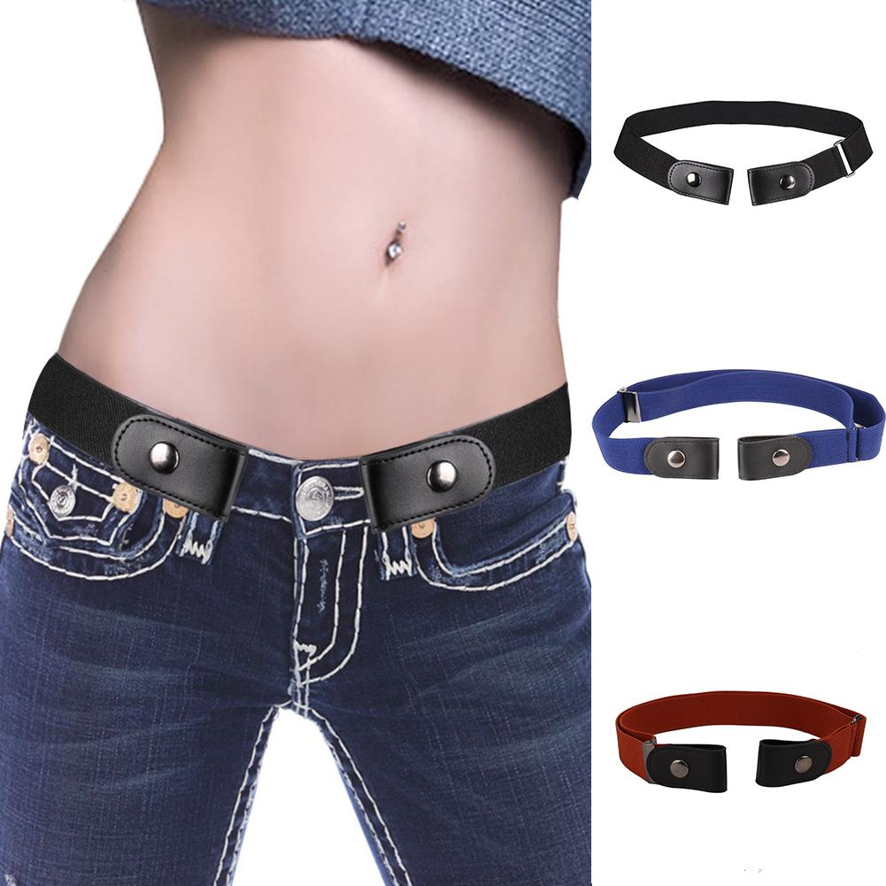 Elastic Waist Belt Women Men Buckle-Free Belt for Jean Pants Dresses No Buckle Stretch No Bulge/Hassle General Size Waist Belt