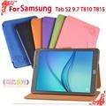 """Для Samsung T810 T815 9.7 """"tablet pc случая высокого качества Pu Кожаный Чехол для Samsung Galaxy Tab S2 9.7 T810 T815"""