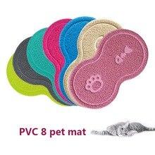 Pets Dog Cat Litter Mat Kitten Dish Feeding Bowl Placemat Tray Tidy Anti-Slip Pad WXV Sale