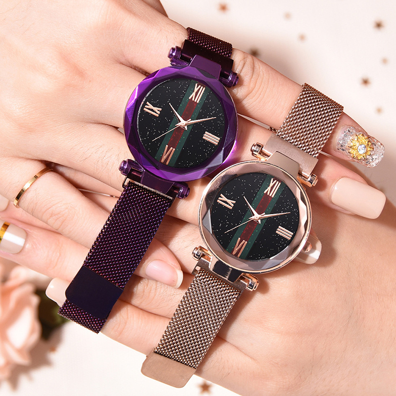 luxury-brand-ladies-magnetic-watch-star-sky-diamond-dial-women-bracelet-watches-magnetic-stainless-steel-mesh-wristwatches-clock