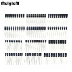 1 компл. 120 шт. 12 значений 0,22 мкФ-470 мкФ алюминиевый электролитический конденсатор Ассортимент Комплект Упаковка