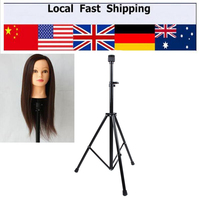 New Tripod Adjustable Manikin Mannequin Head Holder Hairdressing Training Stand