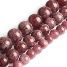 цена Natural Stone Beads Lepidolite Round Loose Beads For Jewelry Making 4/6/8/10mm 15.5inches DIY Bracelet Free Shipping  онлайн в 2017 году