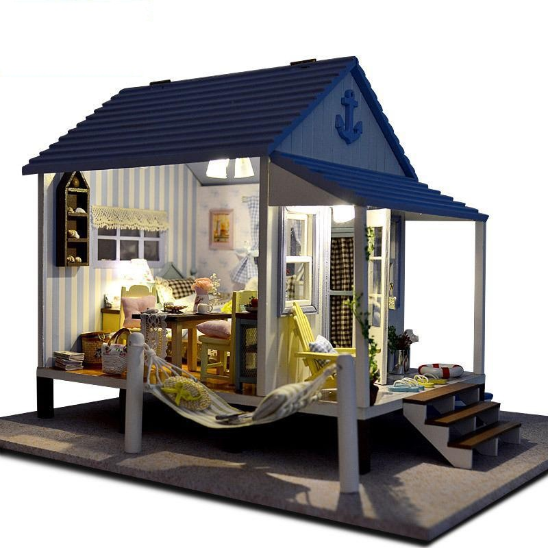 cheap doll houses with furniture. home decoration crafts diy doll house wooden houses miniature dollhouse furniture kit room led cheap with