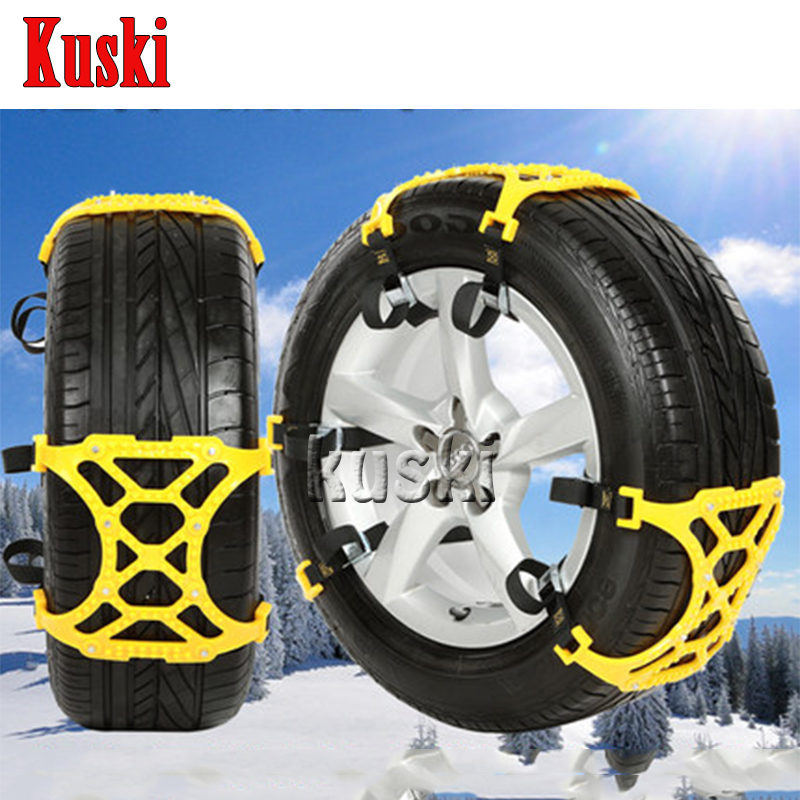 6X Car Snow Tire Anti-skid Chains For Mitsubishi ASX Lancer 10 9 Outlander Pajero For Suzuki Swift Grand Vitara SX4 Vitara