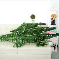 100 см (39.37 дюйма) Новинка большой Размеры моделирование Крокодил плюшевые игрушки мягкие игрушки куклы детские игрушки подушки-игрушки пода...