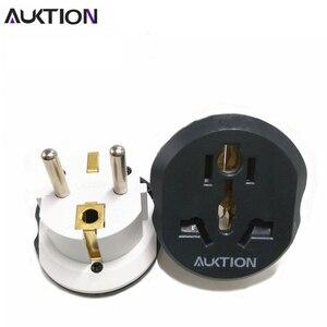 Image 5 - Универсальный адаптер AUKTION 10 шт./лот с европейской вилкой, 16 А, преобразователь электрической вилки, AC 250 В, дорожное зарядное устройство, настенный адаптер питания для США, Великобритании, Австралии