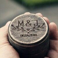 Cool Personalized Wedding Ring Box Rustic Jewelry Box Holder Engagement Gift Ring Bearer Box Handmade