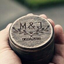Прохладный Персонализированные Обручальное кольцо Box простое Украшение Box держатель Обручение подарок кольцо Bearer Box ручной работы DIY кольцо коробка