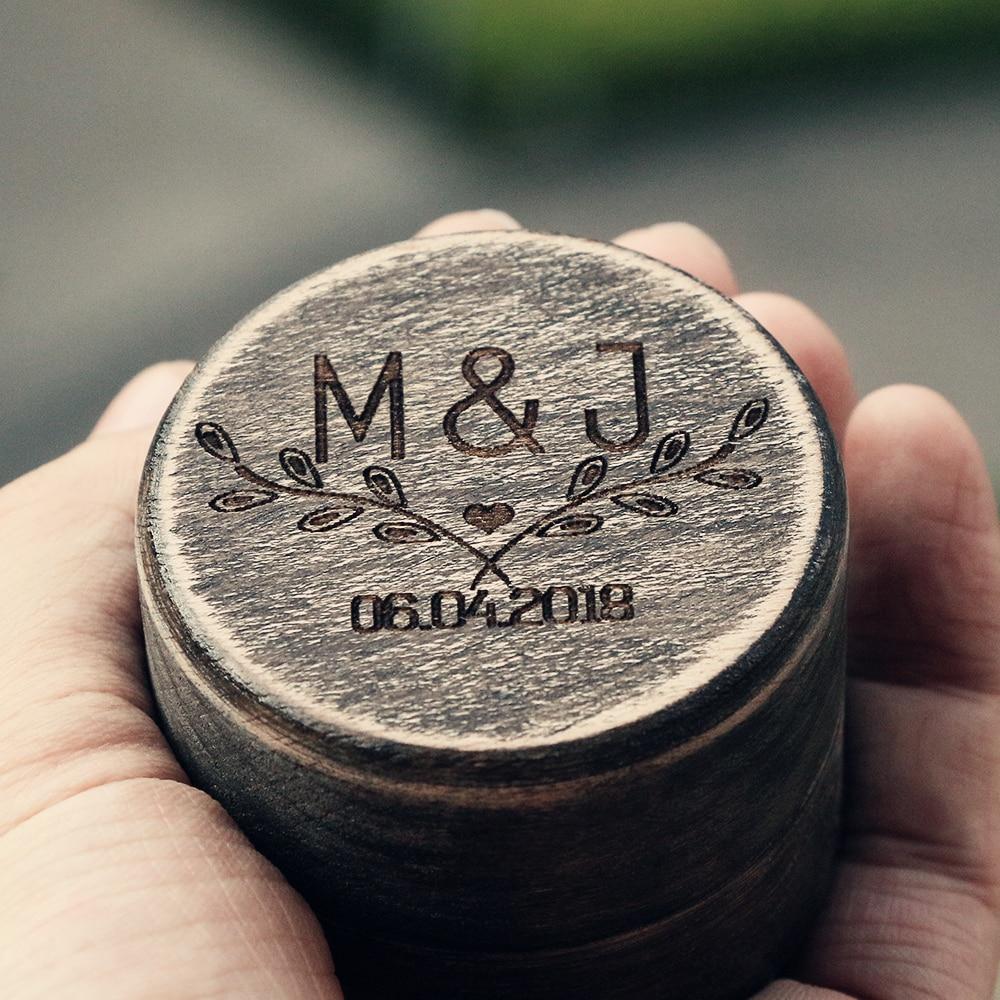 Cool Personalized Wedding Ring Box Rustic Jewelry Box Holder Engagement Gift Ring Bearer Box Handmade DIY Ring Box