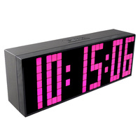 Ch kosda الحديثة ساعة الحائط الرقمية الكبيرة أدى منبهات للعد التنازلي ساعة مكتب الجدول نوم للأطفال شحن مجاني
