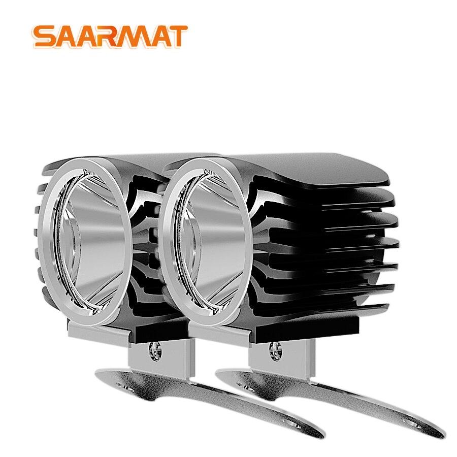 2 Piece LED Car External Headlight 15W 2000Lm High/Low Motorcycle DRL Headlamp Spotlight Drive Fog Spot Lights DC12V 24V +Switch