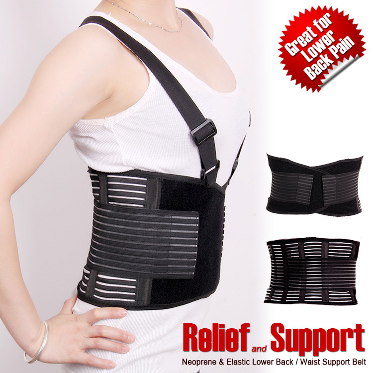 Breathable waist brace relief back pain adjustable elastic waist - Sportswear and Accessories - Photo 1
