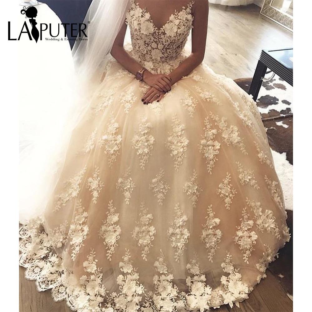 Champagne Color Wedding Dresses Vestidos De Noiva 2017: Aliexpress.com : Buy Vestido De Noiva 2017 Sexy V Neck