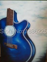 Decorative Wall Hangings Musical Instrument Painting Service Bar Definition Artworks Painting Guitar Oil Painting Abstract Metal