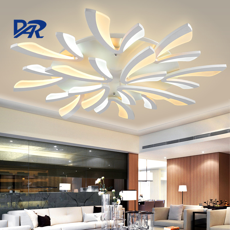 Fashion White Acrylic Ceiling Lamp 3/5/9/12 Heads Modern Led Ceiling Lights For Living Room Lamparas De Techo Plafondlamp Avize noosion modern led ceiling lamp for bedroom room black and white color with crystal plafon techo iluminacion lustre de plafond