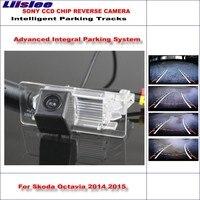 Liislee Intelligent Parking Tracks Car Rear Camera For Skoda Octavia / Skoda Superb Backup Reverse / NTSC RCA AUX HD SONY