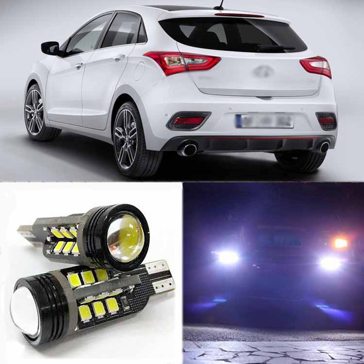 2pcs High Quality Superb Error Free 5050 SMD 360 Degrees LED Backup Reverse light Bulbs T20 For Hyundai I30 2 x error free super bright white led bulbs for backup reverse light 921 912 t15 w16w for peugeot 408