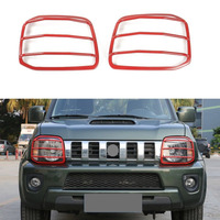 BBQ FUKA Black Metal Left & Right Headlight Head Light Lamp Cover For Suzuki Jimny 07 up Front Headlight Cover Car Styling