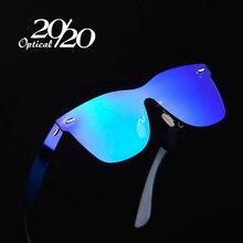 20/20 מותג בציר סגנון משקפי שמש גברים עדשה שטוחה מרובעים ללא מסגרת מסגרת נשים משקפיים שמש Oculos Gafas PC1601